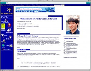 Website kinderarzt.at 2003