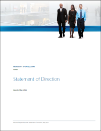 """Cover """"Statement of Direction"""" von Microsoft Dynamics CRM"""