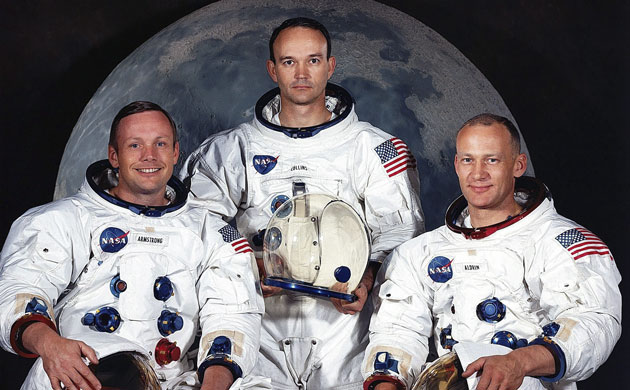 """Apollo 11 Crew: Neil Armstrong, Michael Collins, Edwin """"Buzz"""" Aldrin"""