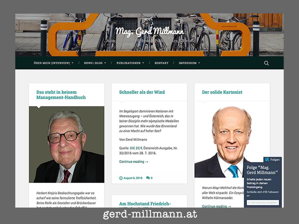 Screendump www.gerd-millmann.at aus 2016